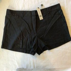 Theory black linen shorts NWT size 10